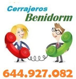 Telefono de la empresa cerrajeros Benidorm