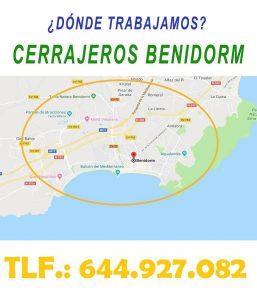 ¿ en que zonas de Benidorm trabajamos ?